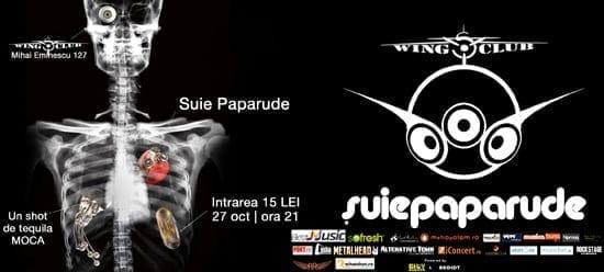 Suie Paparude LIVE @ Wings Club & prima vizionare a clipului Moartea Boxelor