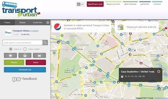 Harta transportului in comun Bucuresti (RATB + METROREX)