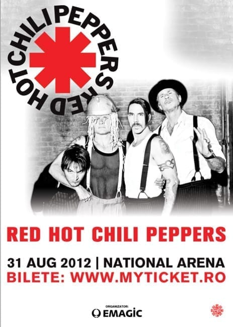 Concert RED HOT CHILI PEPPERS pe stadionul National Arena Bucuresti - 31 august 2012