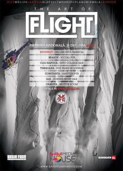 """Proiectie """"The Art of FLIGHT"""" @ B52"""