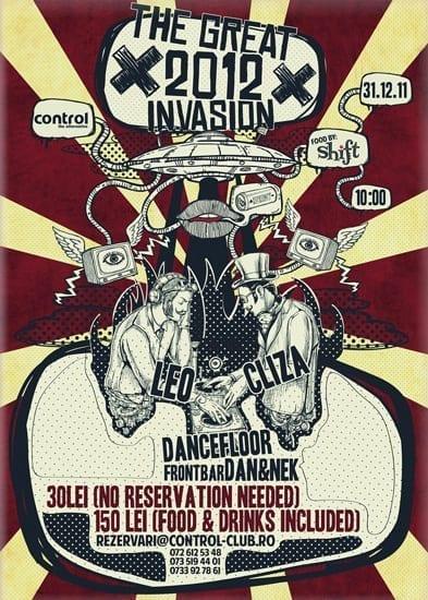 THE GREAT 2012 INVASION! Revelion @ Control