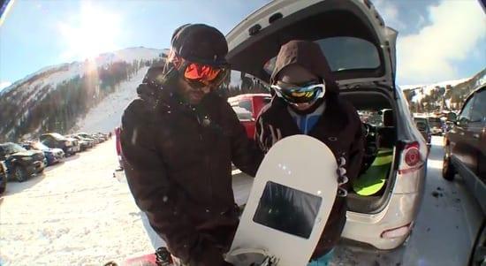 iShred - snowboard-ul cu iPad
