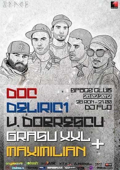 DOC, Deliric 1, Vlad Dobrescu, Grasu XXL si Maximilian @ Space Club