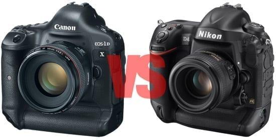 Nikon D4 vs. Canon EOS 1DX