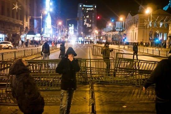 rotest piata unirii ianuarie 2012