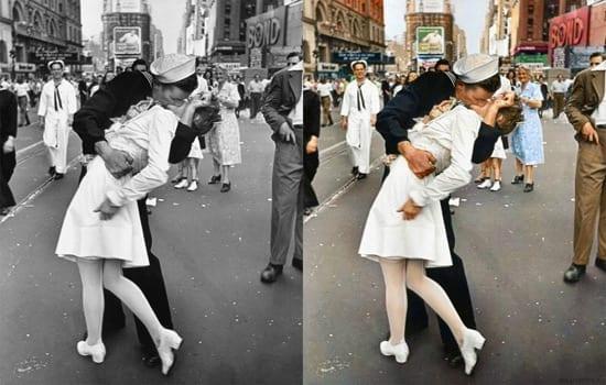 Fotografii celebre alb-negru colorate