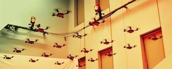 "Ce poate face un ""stol"" de quadrocoptere!"