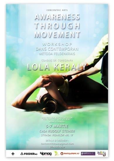 Workshop de dans contemporan – metoda Feldenkrais: Awareness Through Movement