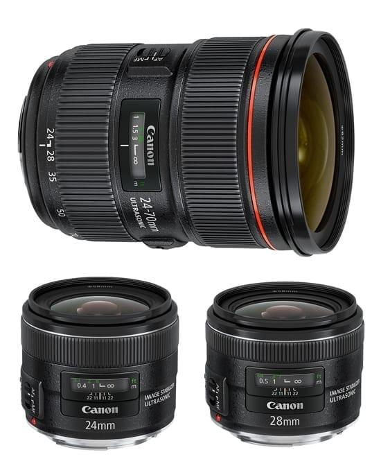 3 obiective noi de la Canon: 24-70mm F2.8 II, 24mm f/2.8 IS si 28mm f/2.8 IS