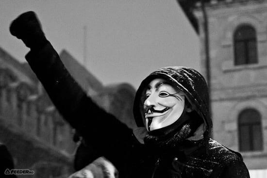 Imagini de la protestul anti-ACTA de azi de la Bucuresti