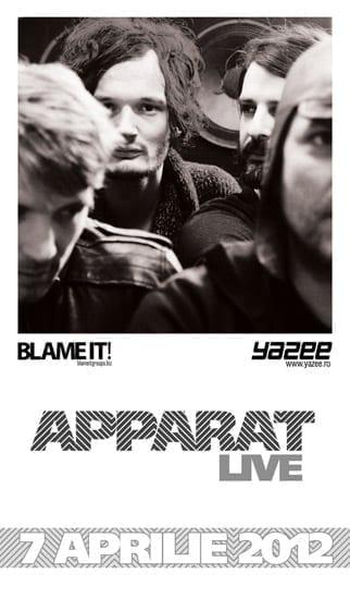 APPARAT (full live band) pe 7 aprilie la Bucuresti