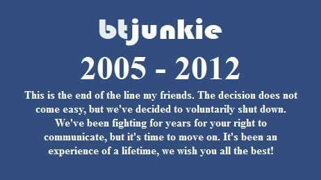 Fondatorii au hotarat sa inchida BTjunkie, unul dintre principalele site-uri de torentzi