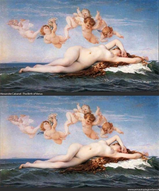 Picturile cu Venus modificate dupa standardele actuale arata chiar porno