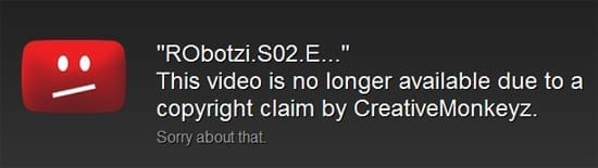 Episodul despre ACTA al RObotzilor nu mai e disponibil pe YouTube