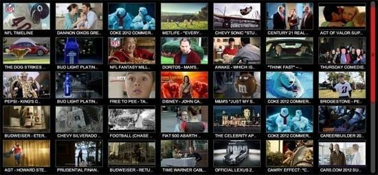 Aici puteti vedea toate reclamele de la Super Bowl 2012