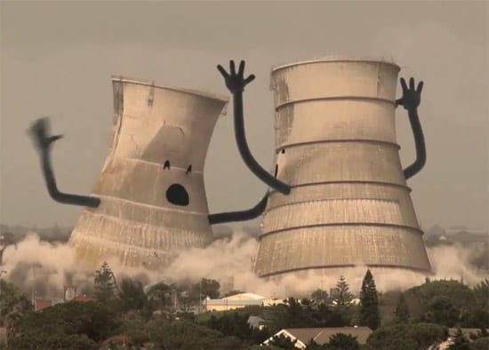 Collapsing Cooling Towers :)