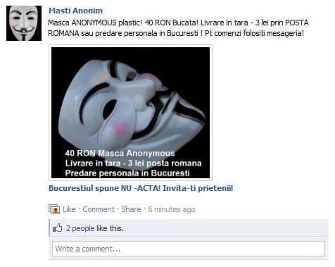 Vand masca Anonymous