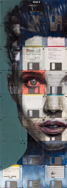 Floppy Portraits by Nick Gentry