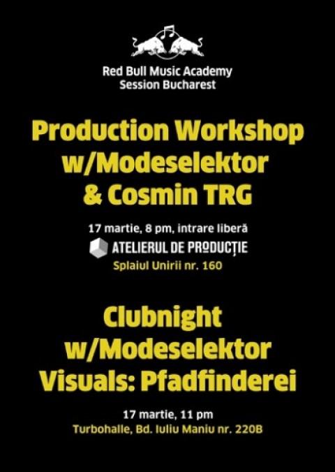 RBMA Session Bucharest cu Modeselektor si Cosmin TRG @ Atelierul de Productie