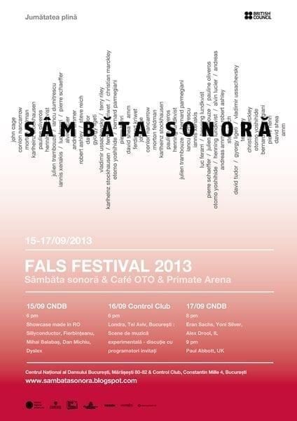 Sambata sonora - FALS festival