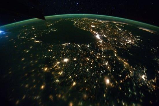 Marea Neagră văzută din ISS