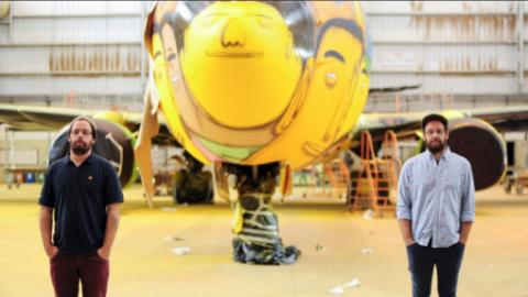 Os Gemeos x FIFA World Cup x 737 Boeing