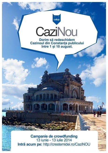 update: Campania de crowdfunding pentru CaziNOU are 99 de susținători!