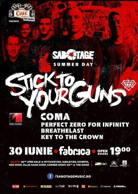 Sabotage Summer Day cu Stick To Your Guns, Coma @ fabrica