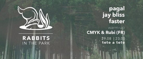 Rabbits in the park: Pagal / Jay Bliss / Faster / CMYK & Rubi @ Tete A Tete