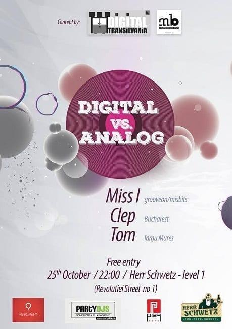 Digital vs Analog with Miss I, Clep and Tom @ Herr Schwetz (Targu Mures)