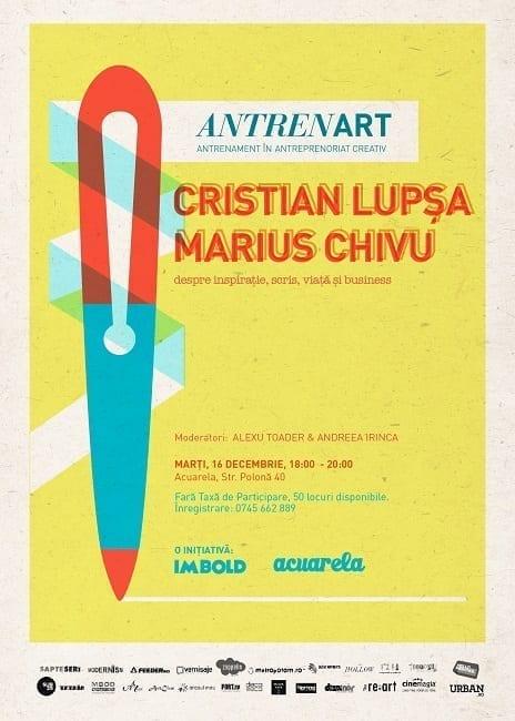 AntrenArt #3: Cristian Lupşa versus Marius Chivu @ Acuarela