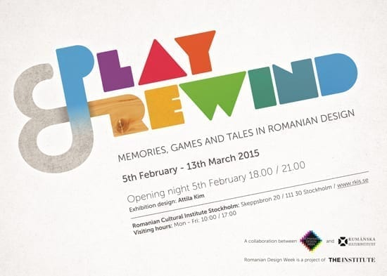 Romanian Design Week organizează expoziția Play&Rewind, în cadrul Stockholm Design Week!