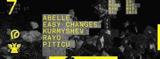 ARMA 17 Showcase: Abelle, Easy Changes, Kurmyshev, Rayo, Piticu @ Club Guesthouse