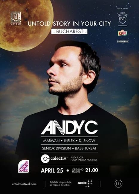 Untold Story in Your City - ANDY C in Bucharest!