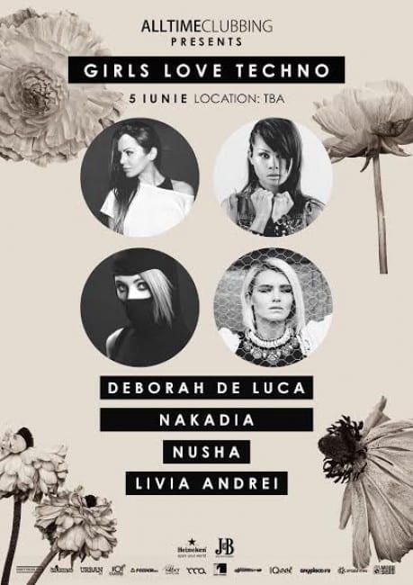 Alltimeclubbing pres Girls Love Techno: Deborah de Luca, Nakadia, Nusha, Livia Andrei