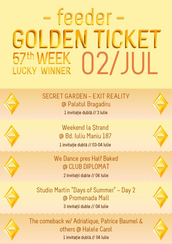 Golden Ticket W57 events