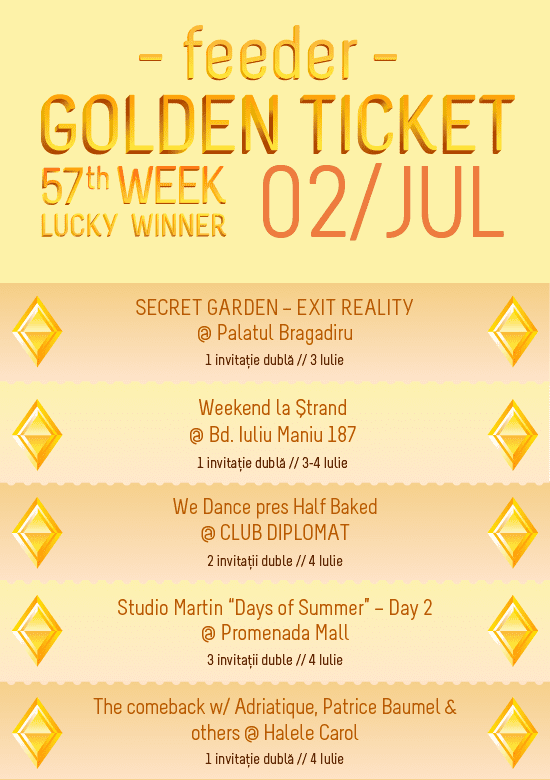 Golden Ticket W57 events