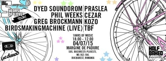 We Dance pres Half Baked w/ Dyed Soundorom, Phil Weeks, Praslea, Cezar, Kozo, Birdsmakingmachine (live), Greg Brockmann, TBF @ Danke Bavaria