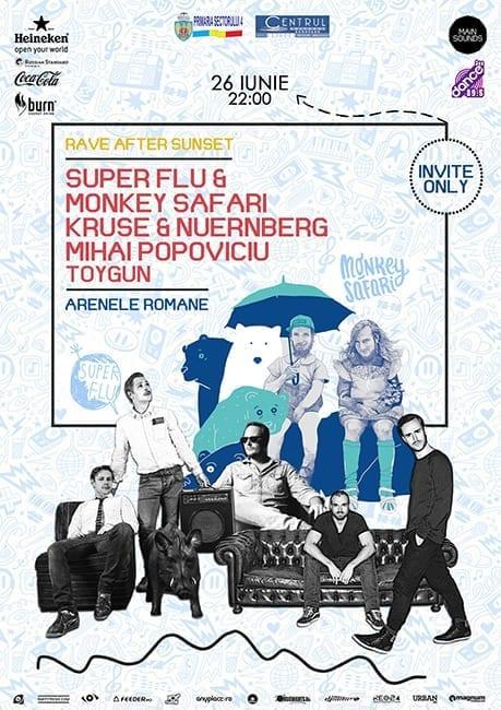 RAVE AFTER SUNSET w/ Super Flu, Monkey Safari @ Arenele Romane