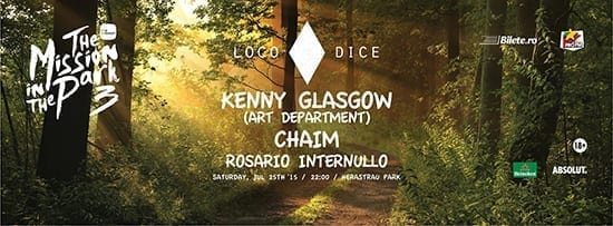 The Mission in the park 03 presents LOCO DICE, KENNY GLASGOW, CHAIM, ROSARIO INTERNULLO