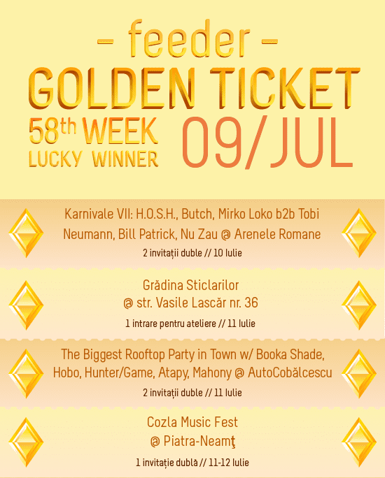 Golden Ticket W58 events
