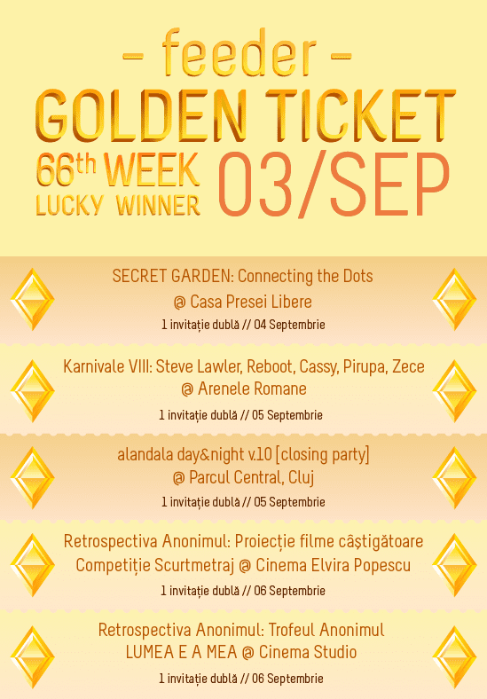 Golden Ticket W66 - events