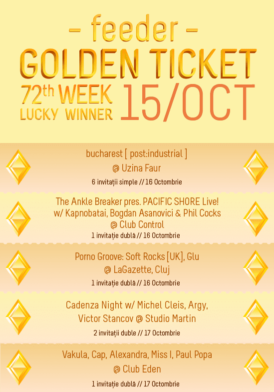 Golden Ticket W72 - events