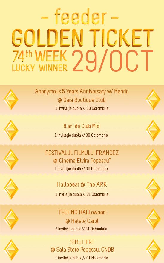 Golden Ticket W74 events