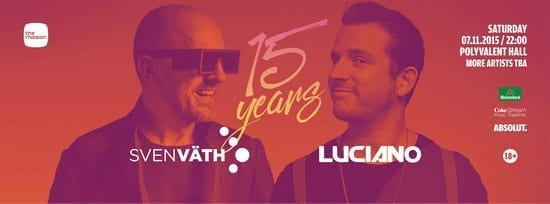 THE MISSION 15 YEARS W/ SVEN VATH, LUCIANO @ Sala Polivalentă
