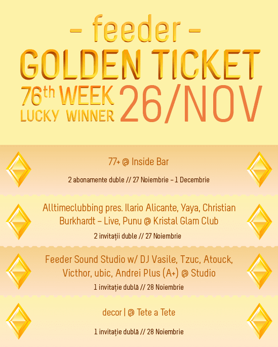 Golden Ticket W76 events