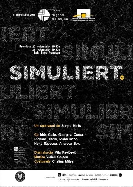 SIMULIERT @ Sala Stere Popescu, Centrul Național al Dansului București