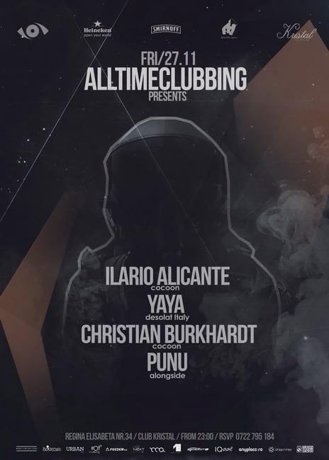 Alltimeclubbing presents Ilario Alicante, Yaya, Christian Burkhardt - Live, Punu @ Kristal Glam Club