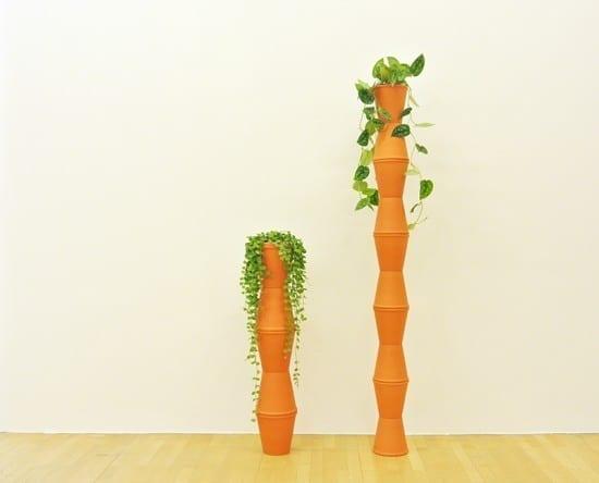 Endless Nature I, Endless Nature II 2012 - 2014 Ceramic pots, indoor plant