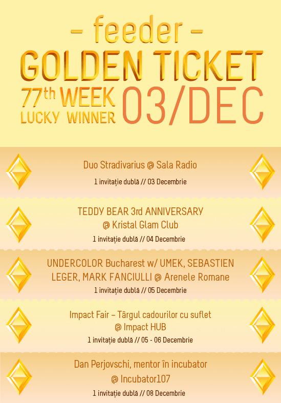 Golden Ticket W77 events